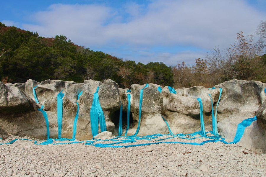 Wishful Flow - This dry as dust waterfall is gorgeous when it's flowing. What can we do to stop climate change so our creeks can flow again? Sculpture Falls, Austin, Texas