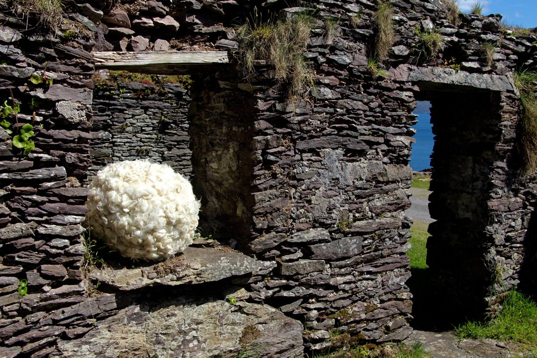 From Hearth and Home: This piece highlights the importance of sheep/wool in the home economy in rural Ireland in the days when this pre-famine house was still functional and in use.